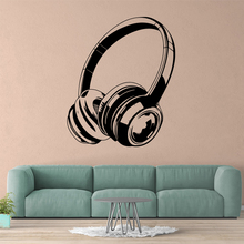Modern Earphone Wall Sticker Pvc Art Stickers Fashion Wallsticker For Kids Room Decoration Decals