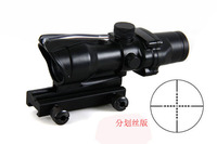 New ACOG 4X32 Rifle Scope Black Color Tactical Hunting Riflescope W 20mm Rail Mount For Airsoft