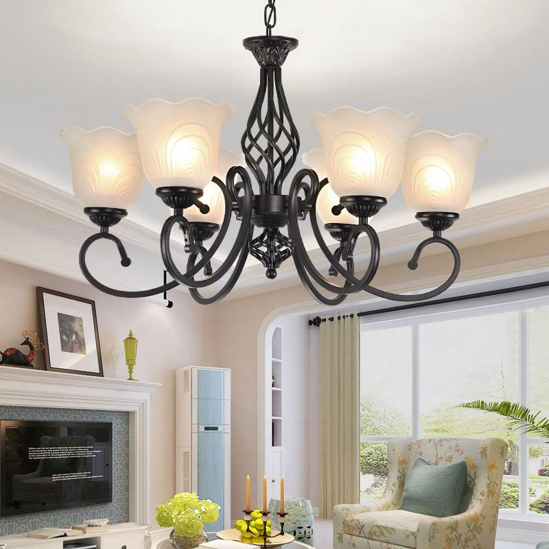 Modern minimalist wrought iron Led Chandeliers living room bedroom study room glass lamps creative personality lighting E27 long restaurant chandeliers creative wrought iron crystal bar lighting modern minimalist living room dining table lamps led lamp