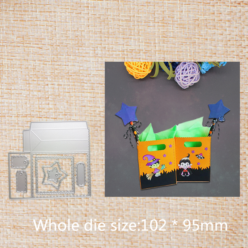 Cute tag gift bag Metal Cutting Dies for Scrapbooking DIY Photo Album Embossing Stencils Paper Craft Dies 102 95 mm in Cutting Dies from Home Garden