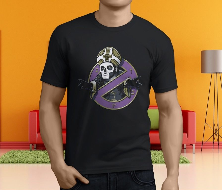 New Popular GHOST Band Heavy Metal Band Men's Black Summer Short Sleeves Cotton