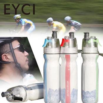 Bicicleta doble cubierta Spray botella de agua aislamiento frío deportes al aire libre