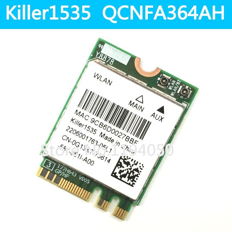 Qualcomm QCNFA364A 802.11AC 876 Mbps Original Killer1535 Bluetooth 4.0 M.2 NGFF carte réseau sans fil WLAN