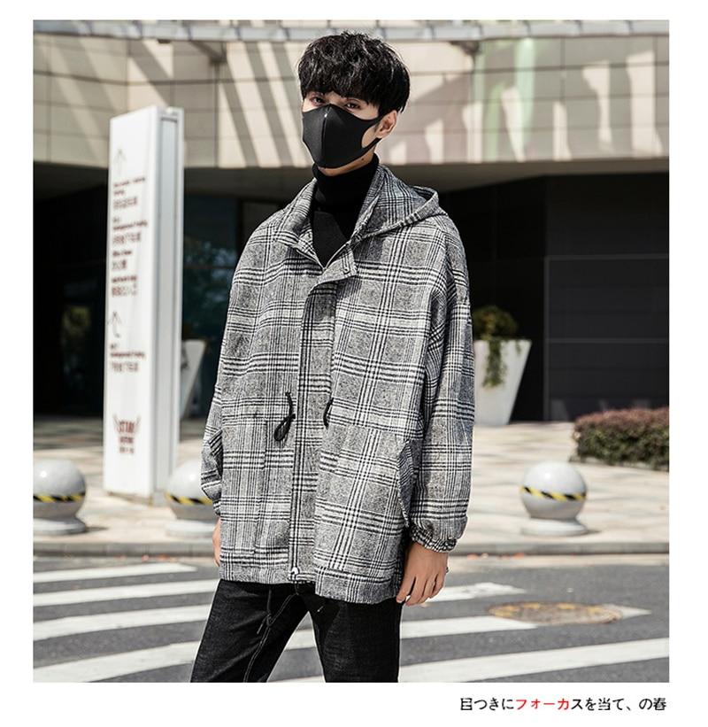 Male Long Coat Oversize Lapel Button Sobretodos Hombre Overcoat Streetwear (28)