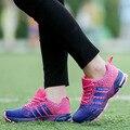 2017 Novas mulheres de cor sapatos de caminhada plana venda Quente Respirável cesta femme Lace up Trainers para o amante Adulto calçado zapatos mujer