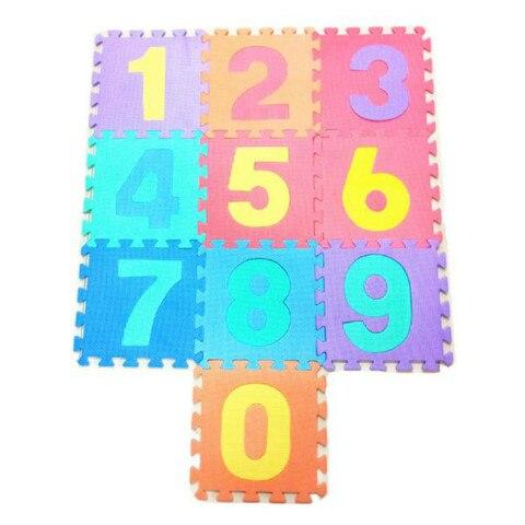 criancas que jogam a esteira 30cm 30cm 10 pces do jogo do numero da espuma