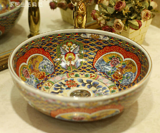 European ceramic wash basin counter Antique Basin B Series