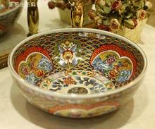 цена на European ceramic wash basin wash basin counter basin wash basin Antique Basin B Series