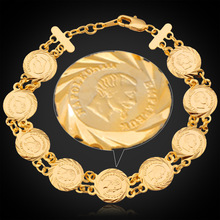 Collare France Coin Napoléon Bracelets Pour Femmes Bijoux Or Argent Couleur  Lien Chaîne Bracelets   Bangles H613 645ed5714d6