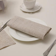 Guardanapos guardanapo jantar de linho, 4 unidades, costume personalizado, 4 tamanhos disponíveis para festa de casamento