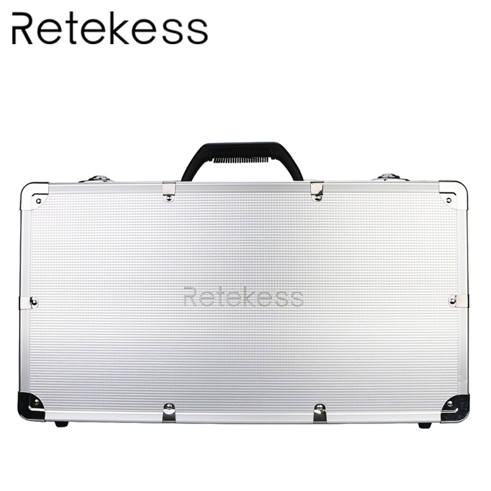 RETEKESS TT001 Charge Case Storage Box 32 Slot Aluminum Alloy For T130 Transmitter and T131 Receiver Wireless Tour Guide System RETEKESS TT001 Charge Case Storage Box 32 Slot Aluminum Alloy For T130 Transmitter and T131 Receiver Wireless Tour Guide System