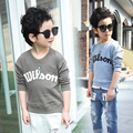 2016 hotsale 2-12 Years children kids baby boys t shirts spring autumn streetwear kids long sleeve t shirts free shipping