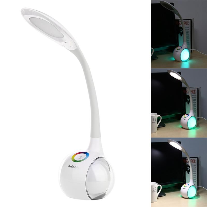 Dimmable Desk Lamp With Night Beauty Double Sides Color Changes Touch Series Eye-Protection LED Desk Lamp Folding Goose Neck