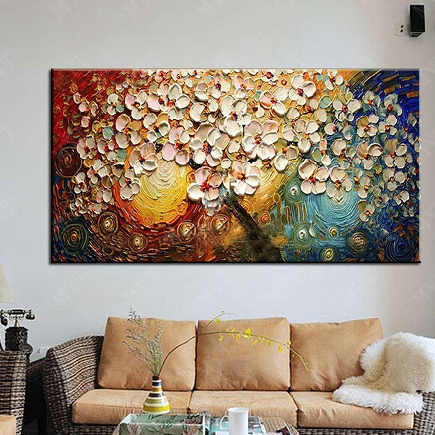 Wall art abstract paintings modern oil painting on canvas for Wall art paintings for living room
