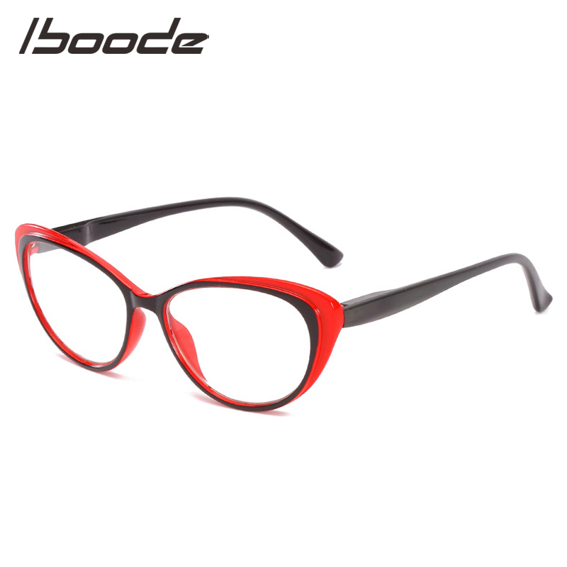 IBOODE Cat Eye Reading Glasses Women Men Presbyopic Eyeglasses Female Male Hyperopia Eyewear Unisex Optics Diopter Spectacles