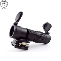 Tactical Optics 3x Magnifier Scope Sight Magnifying Scope Rifle Gun With Flip Up Mount 20mm Rail
