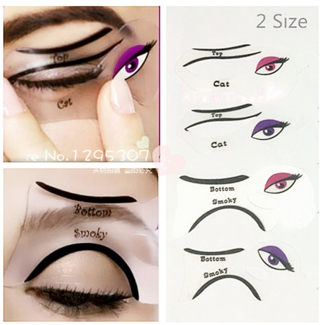 PcsSet Size Professional Eye Liner Template Cat Eye Eyeshadow Eye - Eyeshadow template