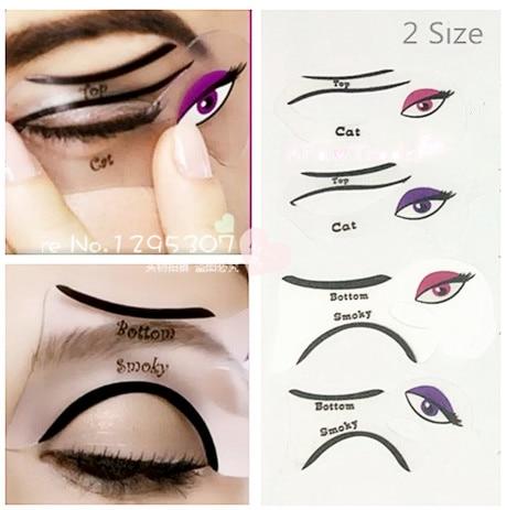 PcsSet Size Professional Eye Liner Template Cat Eye Eyeshadow Eye - Eyeshadow template