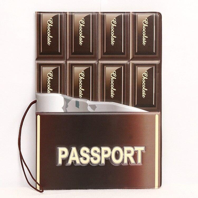 Горячая зарубежных дорожные аксессуары Обложка для паспорта, багажные аксессуары паспорт карты-шоколад