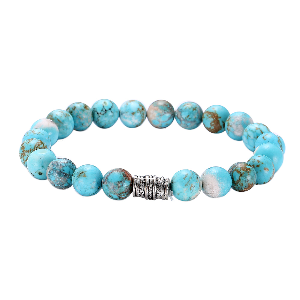 New Nature Turquoise Beads Bracelet Men Fashion Charm Bracelets &  Bangles For Women Jewelry Pulseras