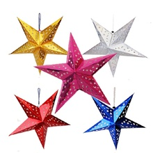 New Year Christmas Decor Navidad Cristmas 4pc 30cm Star Years Garland Ornaments Decorations Noel 2018.B