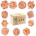 11 шт./лот высокое качество импорта Gamany бука обучения деревянные игрушки 3D IQ burr головоломки головоломка замок взрослых игр