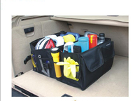 New car styling Portable Road Trip Outing Car Trunk Storage Bag Handy Folding Vehicle Toolbox Multi use Car Boot Organiser bag