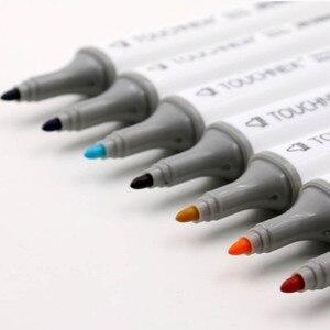 Image 2 - Touchnew gekleurde kopie markers set alcohol sketch marker pennen art supplies borstel manga tekening acryl Designer pen set student