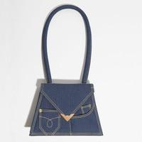 Big Handle Denim Flap Totes Luxury Handbags Women Bags Designer Rock Hasp Purse Small Hand Bags