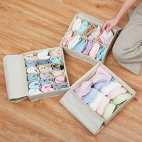 Quality Cotton Line Drawer Organizador Set 30*26*10cm Underwear Stockings Bra Storage Organizadores Durable Wardrobe Storage Box