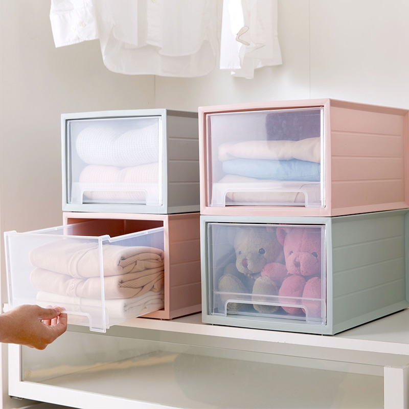 Stackable Drawer Storage Box Multi layer Clothing Storage Box Large Plastic Clothes Storage Box Toy Storage Box