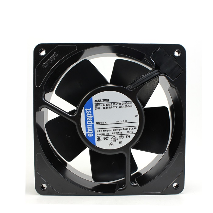 New original 4656ZWU 12038 220V 18 / 19W IP68 all metal fan original ebmpapst 1120ntd tc 220 230v 16w 19w cooling fan