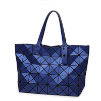 Women Fashion BAOBAO Bag Geometry Handbag Sequins Laser Plain Folding Bags Handbags Women Shoulder Bag Famous