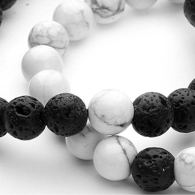 Купить браслет из лавового камня для мужчин и женщин регулируемая бижутерия