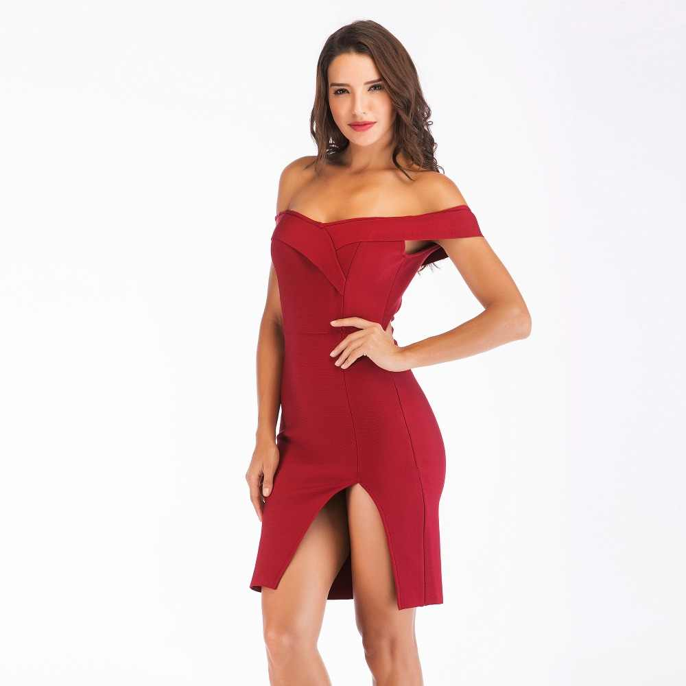 b439d3690d42 Off-Shoulder-Bandage-Dress-Women-2018-Summer-Fashion-Black-White-Red-Dresses -With-Open-Slit-Celebrity.jpg_q50.jpg