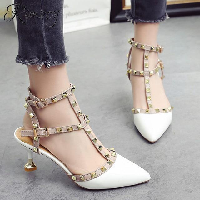 bcd6f69d Rimocy verano 2019 punta sandalias de moda Zapatos tacones zapatos de mujer  zapatos casuales sandalias mujer