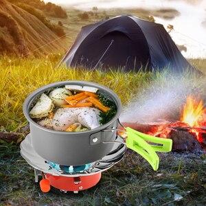 Image 5 - Lixada 2800W extérieur pliant coupe vent piézo allumage cuisinière à gaz Camping sac à dos cuisinière ustensiles de cuisine