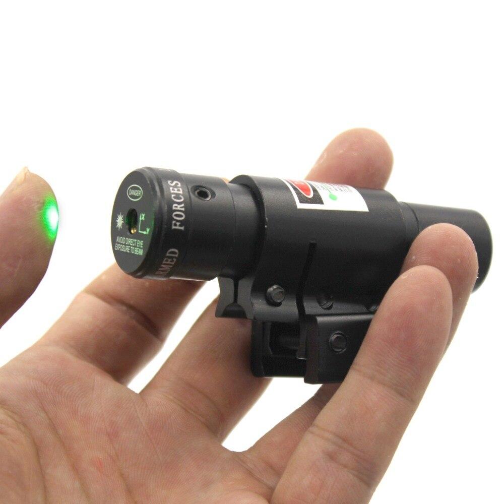 그린 도트 전술 G17 G19 레이저 시력 저 프로파일 스코프 피스톨 라이플 건을위한 20mm 위버 레일 마운트 Airsoft - 전술적 인 hunti
