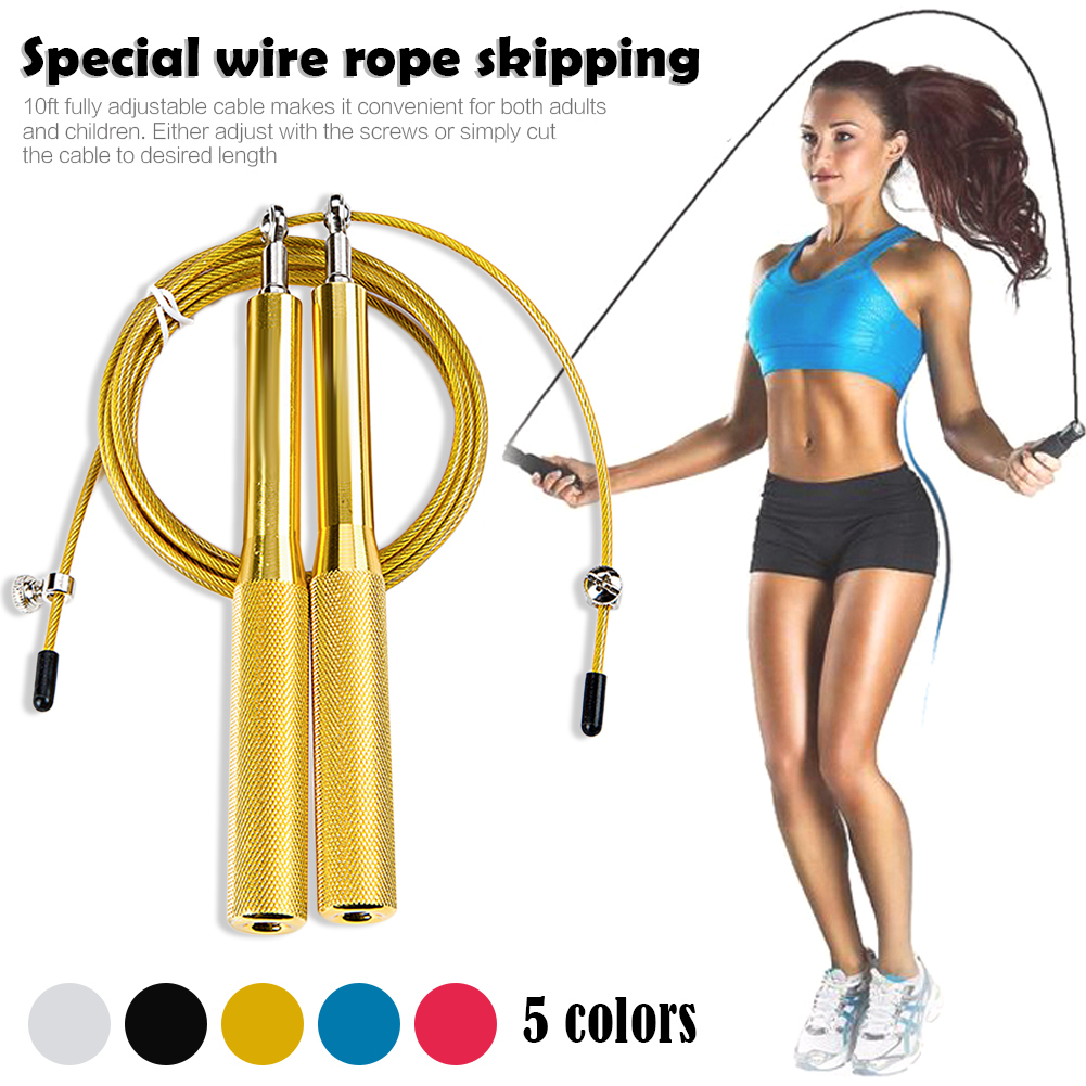 10ft Adjustable Steel Wire Speed Skipping Jump Rope CrossFit Exercise Fitnesss