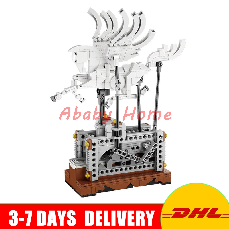 In stock Lepin 23015 Technic Series The Pegasus Automaton Mechanical Flying Horse Set Educational Building Blocks Bricks Toys in stock lepin 23015 485pcs science and technology education toys educational building blocks set classic pegasus toys gifts