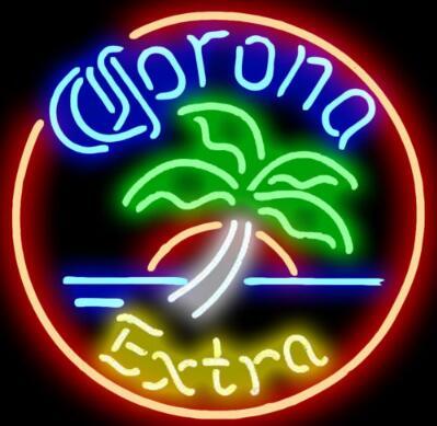 Custom Corona Extra Palm Glass Neon Light Sign Beer BarCustom Corona Extra Palm Glass Neon Light Sign Beer Bar