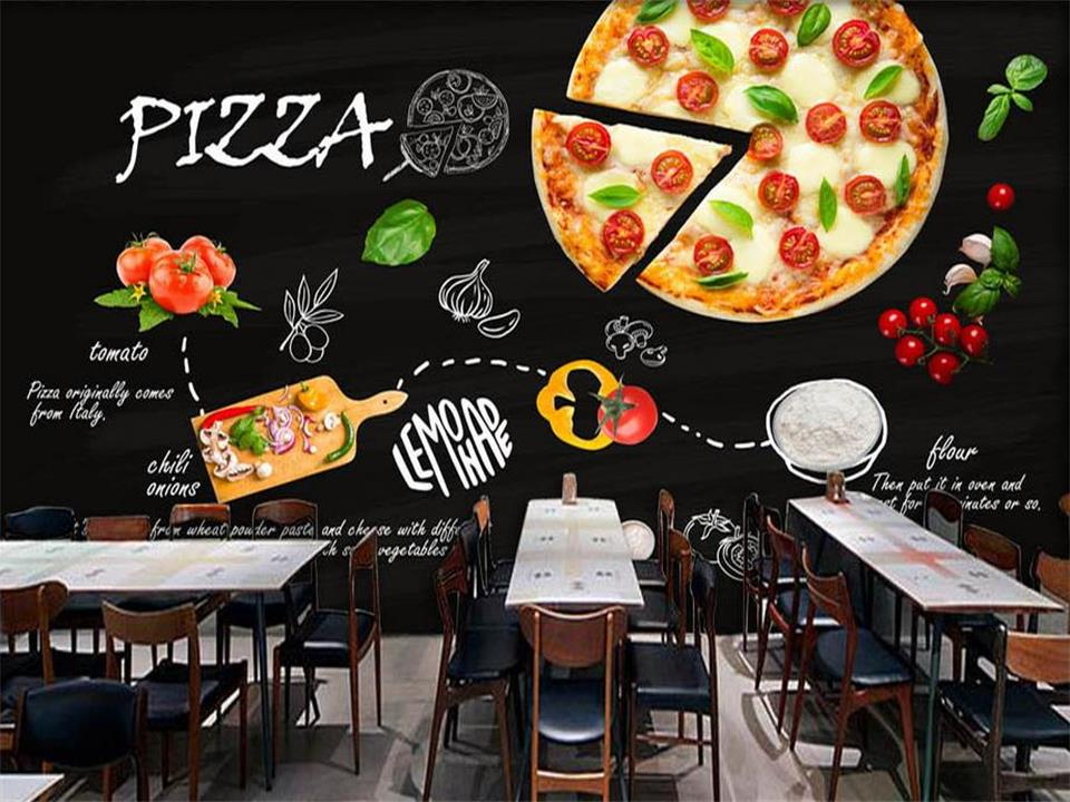 3d wallpaper photo wallpaper custom living room mural black hand-painted Italy pizza shop painting background non-woven sticker custom mural wallpaper 3d non woven black and white flower hand painted paintings living room sofa tv 3d wall murals wallpaper