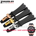 28cm High Quality Rubber Watch Band Strap+Clasp FIT (For) AP audemars Piguet watch band Off shore Men's bracelet