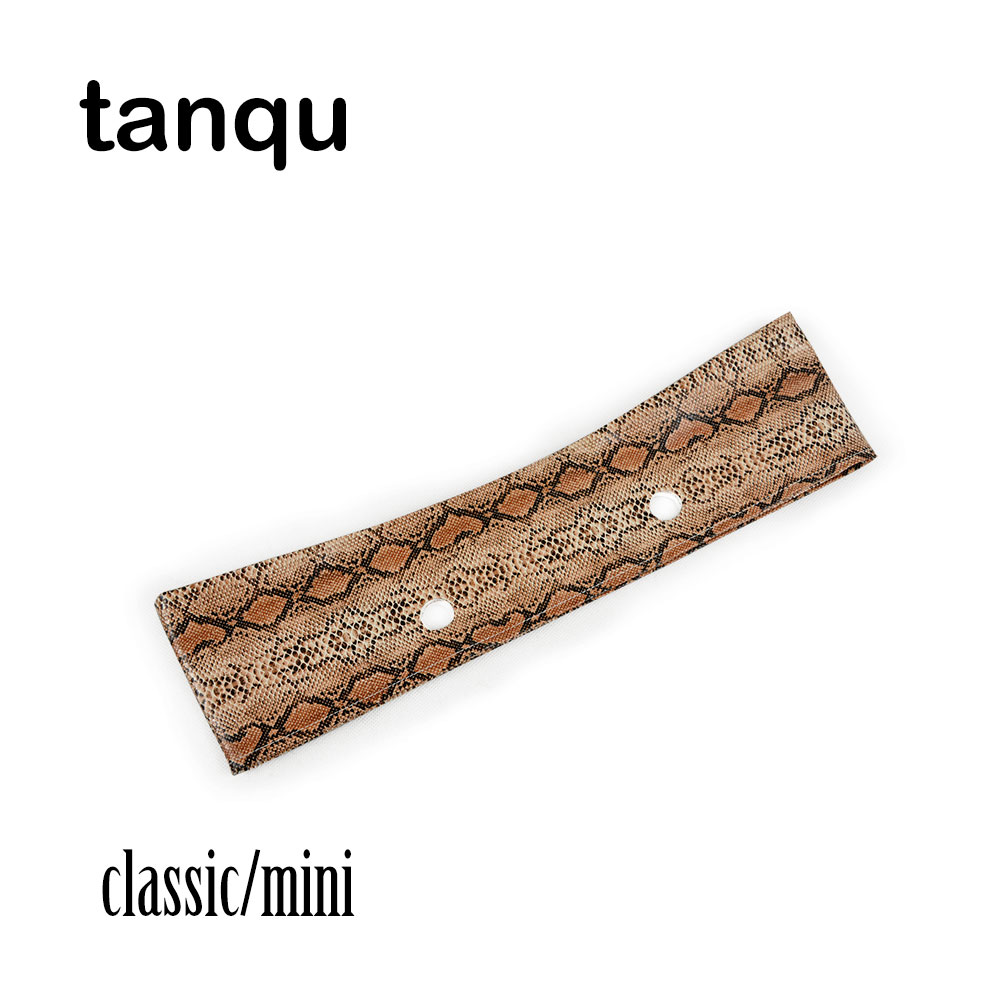 Tanqu Leather Trim Decoration For Obag O Bag Classic Mini Faux Solid Snakeskin Grain PU Serpentine Trims For Spring Season