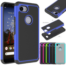 For Google Pixel 3a Heavy Duty 2 in 1 Hybrid Armor Case Anti Drop Protective Soft TPU & Hard Back Cover 3a XL