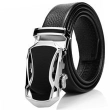 Genuine Leather Automatic Buckle Belt For Men