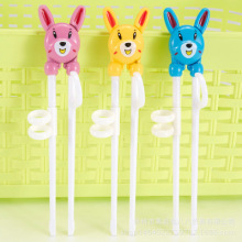 Infant Learning Chopsticks Cartoon Plastic Baby Training Children Corrective Practice Eating