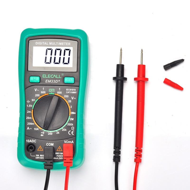 Ileco digital display table backlight anti-burn multimeter digital universal meter EM33D + small pocket high-precision meter  цены