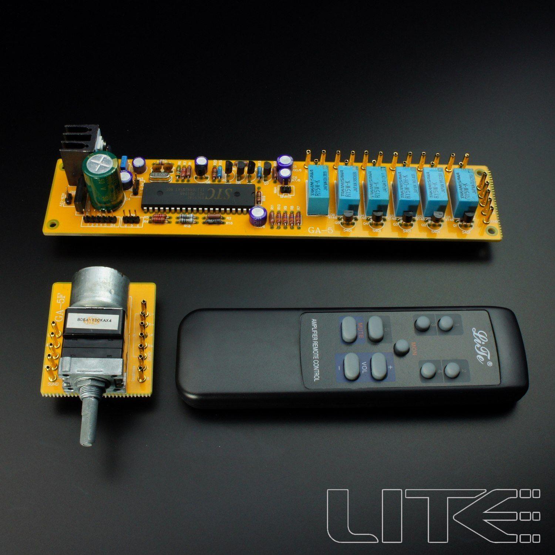 GZLOZONE HIFI 4-channel remote volume control board with ALPS motor potentiometer L3-8 mv04 alps quadruple motorized remote control