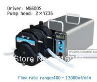 WG600S 2xYZ35 Pump head PPS Speed Variable Industrial Electric Peristaltic Doing Pump Water Fluid Liquid Pumps 400~13000 ml/min